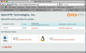 OpenVPN AS User Portal